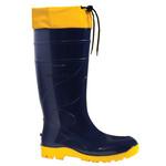 Square 150 bota pvc azul amarelo longa com forro e polaina linha gran atlantis fujiwara