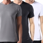Square 150 kit 3 camisetas diesel ds00spdgrhapy umtee jake 100 algodao preta branca cinza 1500