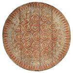 Square 150 to3 painel entalhado madeira bali indonesia arte artesintonia redondo colorido timor leste 1