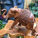 Square 150 gl46 escultura estatua elefante madeira suar entalhada  bali artesintonia 0