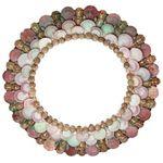 Square 150 espelho conchas coloridas entalhado floral artesanal arte bali indonesia aertesintonia 1