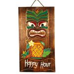 Square 150 dp9 placa tiki madeira artesanal bali indonesia arte artesintonia abacaxi 1