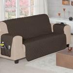 Square 150 protetor de sofa 3 lugares marrom juma