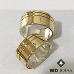 Aliança de Moeda Antiga Casamento Polida Reta 10mm MJM145 2014ab2c06