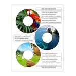 Square 150 etiquetas auto adesivas para cddvd fastlabel 3 branco fosco